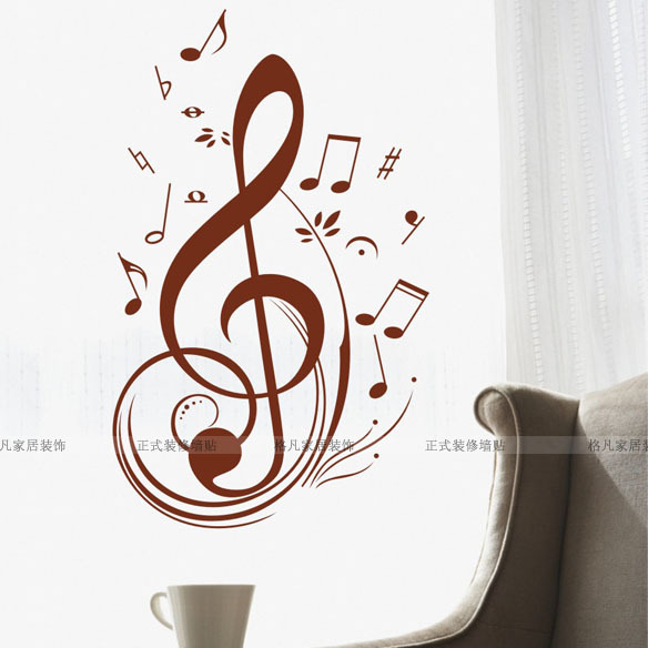 Wall stickers new arrival 2013 music piano sticker note 4227(China (Mainland))