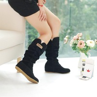 2014 Newest Winter Woolen Lady Snow Boots,Sexy Black Orange Brown Women Boots Fashion Shoes