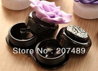 Cute Lovely flower Travel Portable Contact Lens Lenses Container Case Set Holder Box wholesale