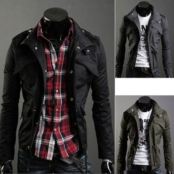 2013 male spring autumn outerwear men's clothing jacket outerwear male slim thin jacket men's clothing
