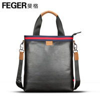 Feger Brand , stripe portable series cowhide cross-body shoulder bag briefcase business  man bag, 5M929-3,free shipping