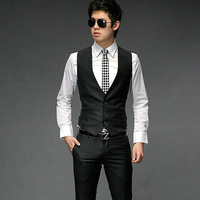 Free Shipping mens suits with vests suit vest for men fashion 3 buttons wholesale Casual Top Slim & Fit Luxury business D170