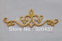 God embroidery applique,gold fabric applique silver 18cm*6cm
