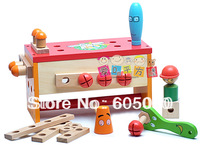 Free shipping Bob papua tool box child educational toys baby nut combination