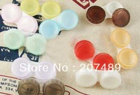 simple translucent sweet color Cute Lovely Travel Portable Contact Lens Lenses Container Case Set Holder Box wholesale