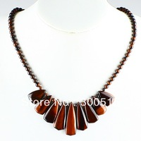 K56565 Red Tiger eye Handmade necklace 20 Inches picture c