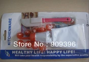 free shipping 10pc/lot baking tool  Metal Cake Cupcake Decoration Pastry Icing Piping Syringe Gun 8 Nozzle Tip Set