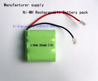 Manufacturer supply Cordless Home Phone Battery 2/3AAA 300mAh 3.6V