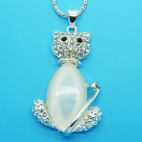 Min Order 12$ high quality,wholesale price,hello kitty necklace,sliver plated chain necklaces,fashion jewelry XL0395