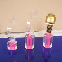 Free shipping, Wholesale Clear Acrylic Watch Display Holder Kit of 3Towers Jewelry Stand