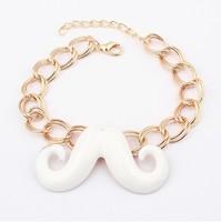 Free shipping 1 lot/10pcs mustache style bracelet jewelry fashionable exotic beard bracelet bangles night club jewelry