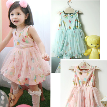 2013 Summer One-piece Dress For Baby Girls Suspender Princess Children's Tank dress,Free Shipping