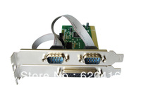 Combo 2 DB-9 Serial (RS-232) + 1 DB-25 Parallel Printer (LPT1) Ports PCI Controller Card,Support Low Profile Bracket with long