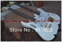 Wholesale - 2012 Hot Selling Double Neck Guitar 7V White 12 Strings AND 6 Strings Electric Guitar Free Shipping