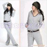 2014 spring long-sleeve casual sports set plus size plus size loose women's outerwear xxxxxl