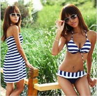Free shipping Hot Sale Sexy Zebra Striped Women Swimwear Lady Bathing Suits Tankinis 3pcs/set
