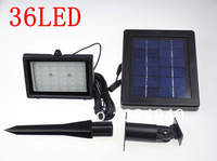 5Pcs/lot  2W 36 LED  New Outdoor Solar Power Automatic Security Flood Garden street lamp Waterproof Light free shipping
