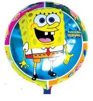10pcs/lots 18 inch Round shape Spongebob foil balloon , Party decorate balloon