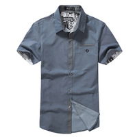 Free shipping, We Best, 2013 new arrival,  men's fashion,  denim short-sleeved shirt, dropping shipping  MCS008
