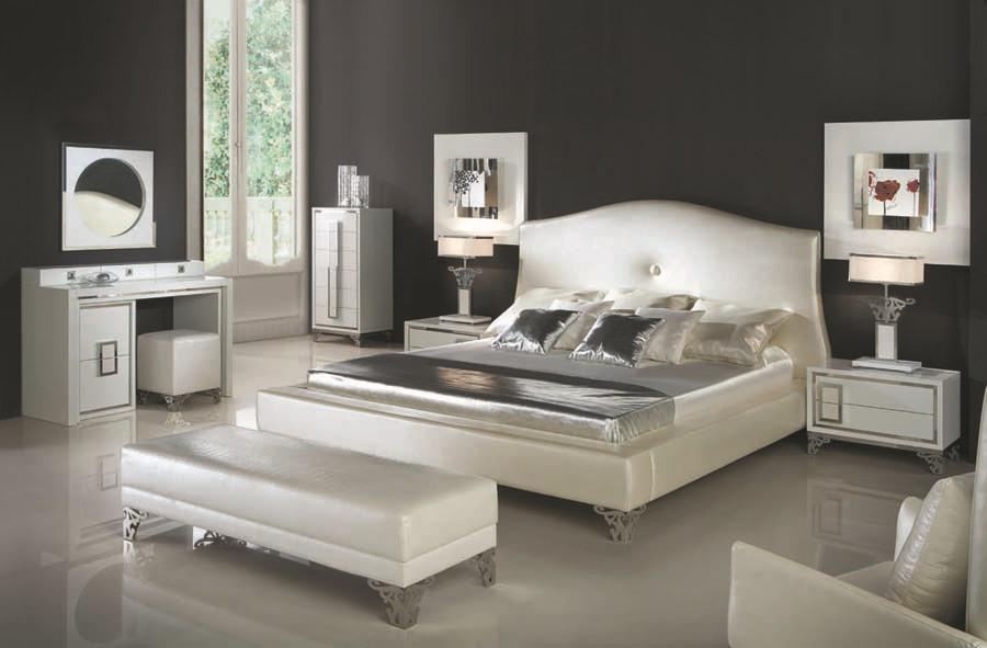 italiaans design slaapkamer meubilair bed wadrobe nighstand moderne ...