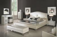 Italian design bedroom furniture bed wadrobe nighstand modern  home furniture J001