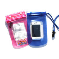 Fish waterproof bag waterproof mobile phone bag hot spring 12.5 20 cm