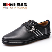 2013 spring models men shoes Korean version of the trend of the new men's shoes, men's shoes leather popular leisure Peas horses