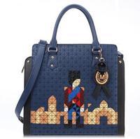 Free shipping! Female bags 2012 women's bags embroidery vintage bag cartoon print one shoulder handbag