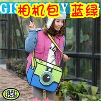 Free shipping! 3d three-dimensional cartoons bag messenger camera bag birthday gift for friend