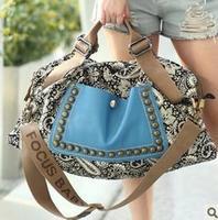 Free shipping! Canvas bag female bags 2013 female dual-use package messenger bag handbag vintage fashion women's handbag