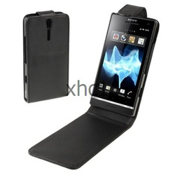 Free Shipping High Quality Mobile Phone Leather Case for Sony Xperia S LT26i(China (Mainland))