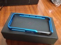 Free Shipping 1pcs Vapor Pro Bumper Case For iPhone 4S 4G iphon 4(Blue/Black)