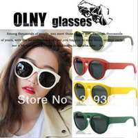 2013 Fashion Korea Non-mainstream Sunglasses  Candy SIX colors UNISEX Sun glasses UV PROTECTION Sun CHEATERS Elastic Paint