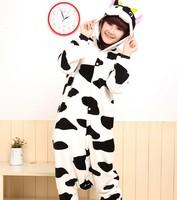 Free Shipping Hot Sale 2013 New Fashion S M L XL Adult Cow Sleepwear Cosplay Costumes Animal  Pyjamas