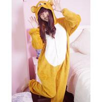 RILAKKUMA Pajamas Bear Romper Japan Cosplay Costume pyjamas Free Shipping