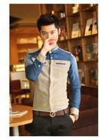 [ Jeans Tesco ] 2013 spring summer male shirt new arrival jeans shirts for men clothing free shipping