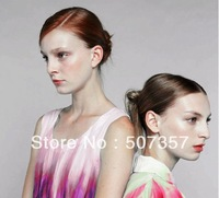 Wholesale 2013 Fashion Abstract dyeing color fabric / pop style silk cotton fabric 2011