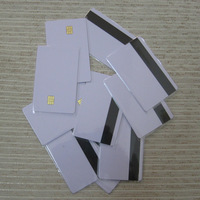 Free Shipping New Blank PVC 4442 Magnetic Contact IC Card With SLE 4442 Chip &With Hico Magnetic Mag Stripe Smart Card,10pcs/lot