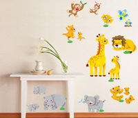 Free shipping 2013 New Hot Fashion Animal Plastic 3D Sticker Wall