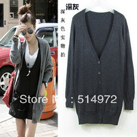 Best selling!!2013 new fashion women cardigans medium-long solid female thin sweater ladies Knitwear free shipping