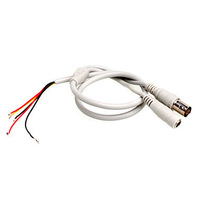 5-Pin Open End Cable to 1 BNC Female Connector with 12V DC Input for CCTV Camera