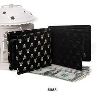 Mastermind japan mmj skull short design wallet genuine leather wallet  w10096