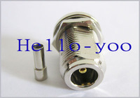 2pcs/lot N Crimp Jack bulkhead RF coaxial connector straight for LMR100 free shipping