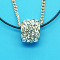 Min Order 12$ high quality,2013 new arrival,free shipping,rhinestone ring pendant necklace,fashion necklaces,double chain XL0423