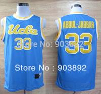 Ncaa UCLA Bruins #33 Kareem Abdul-Jabbar blue college basketball jerseys mix order free shipping