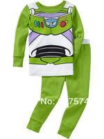 2pcs cartoon Pajama Set 7273 In stock Children Cartoon Long Sleeve Pajama Retai Baby Sleeppants +long sleeve Underwears sets