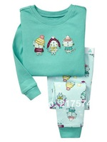 Pajama Set 7283  In stock Fast  Children Cartoon Long Sleeve Pajama Retai 2pcs/set  Baby Sleeppants +long sleeve Underwears sets