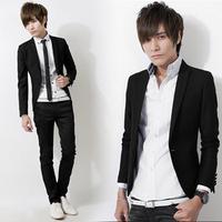 2013 spring men's clothing blazer coat suit slim casual suit male blazer