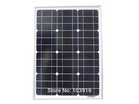 30w solar panel for 12V system, monocrystalline,  photovoltaic panel, solar module