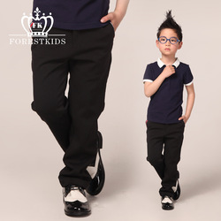 Fk2013 spring and autumn new arrival fashion child fashion elastic casual trousers western-style trousers black bottoms(China (Mainland))